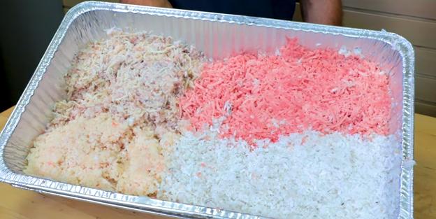 Chopped frozen ingredients