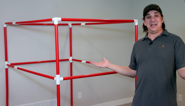 Framed out tank space using PVC