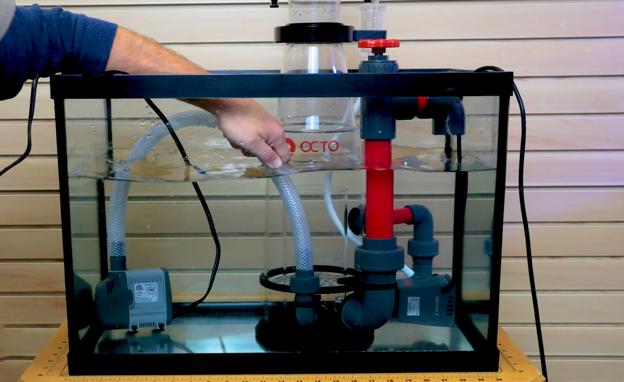 recirculating protein skimmer pump connection