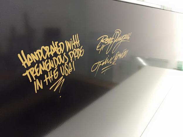 Felix of Reef Savvy personal signature on new aquarium