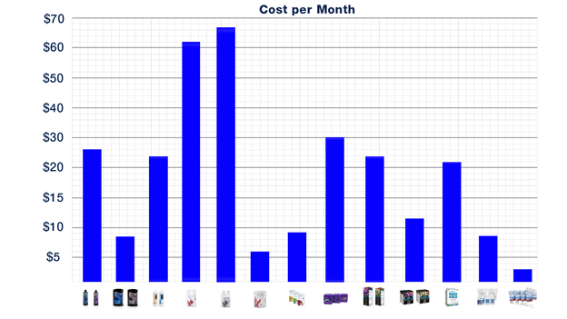 Cost Per Month Chart