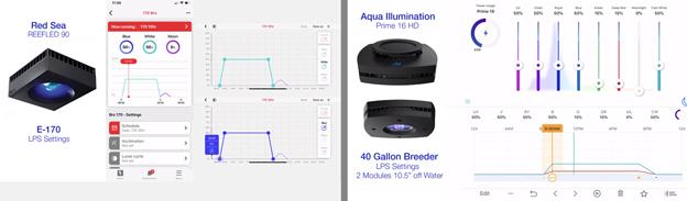 LED Light Programs for Red Sea ReefLED and Aqua Illumination Prime