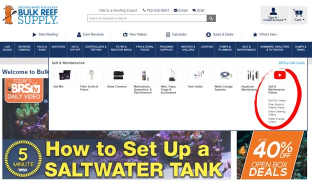 BulkReefSupply.com Category Videos