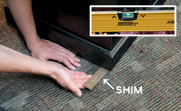 How to use a shim under your aquarium stand