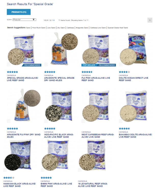 Caribsea sand options
