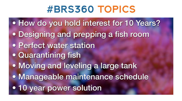List of topics for BRS360 build