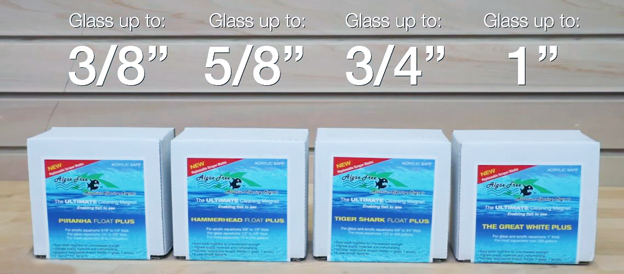 Algae Free Magnetic Cleaners glass thickness guide
