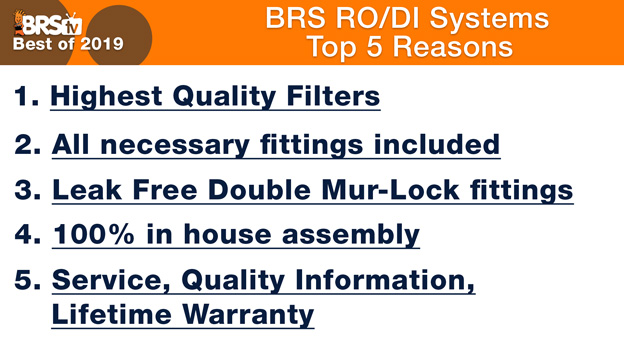 Reason to buy BRS RO/DI Systems