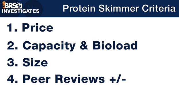 Protein Skimmer Selection Criteria