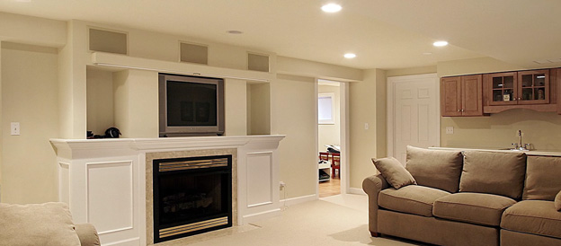 Finished basement that appears to be unused