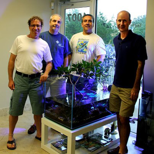 Julian Sprung, Scott Fellman, Charles Delbeek, and Tony Vargas. Photo courtesy of Reef2Reef.com