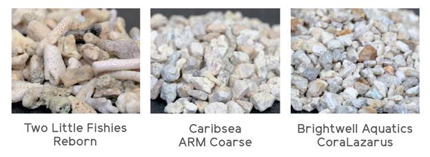Close up image of calcium reactor media granules