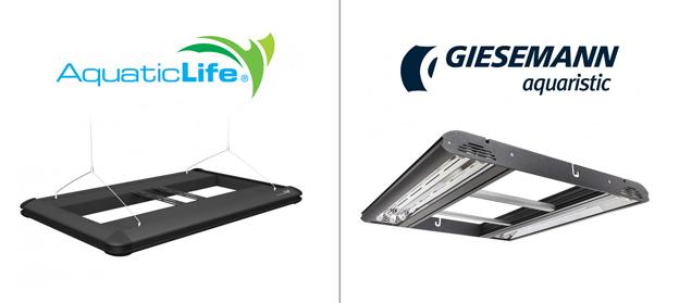 AquaticLife Hybrid and Giesemann Stellar 24 inch fixtures