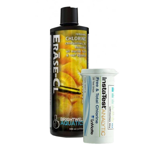 Brightwell Aquatics EraseCL and LaMotte Chlorine Test Strips
