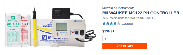 Milwaukee pH Controller Kit