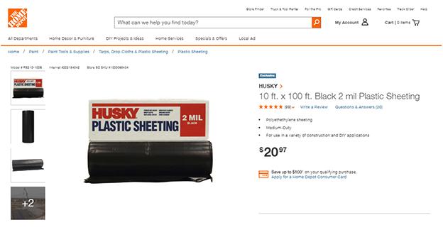Black Plastic Sheeting