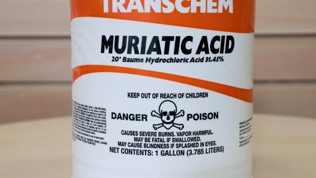 Muriatic Acid Warning Label
