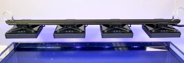 Radion XR15 LED light rack over BRStv test tank