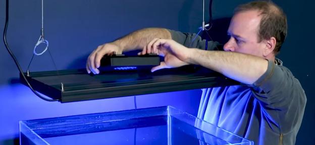 Dave adding a Radion XR15 LED to an Aquatic Life Hybrid