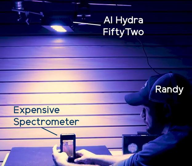 Randy using a spectrometer