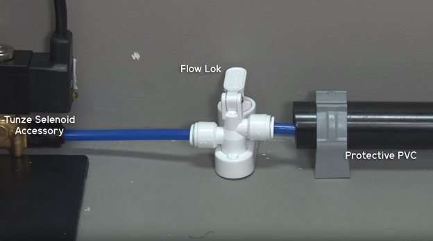Flow Lok and Protective PVC Pipe for RO Tubing
