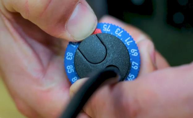 Eheim Jaeger heater calibration dials