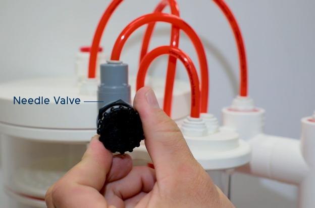 Needle Valve on calcium reactor