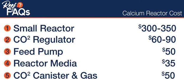 Basic calcium reactor cost estimates