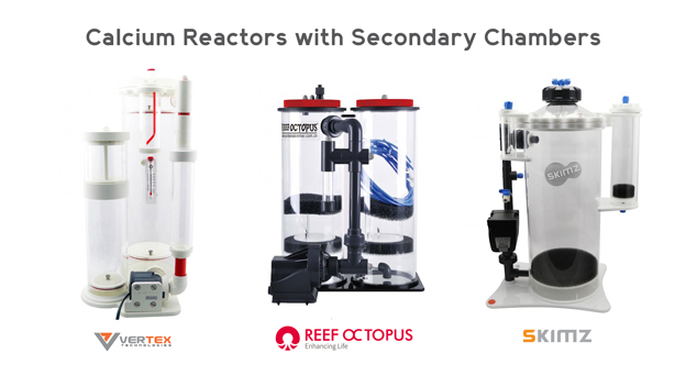 Calcium Reactors with Secondary Chambers