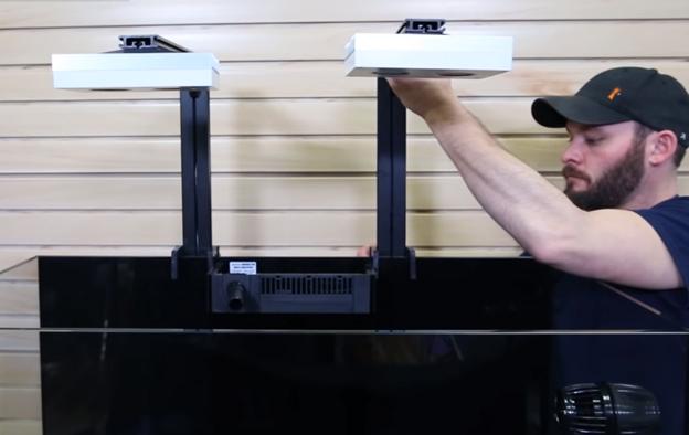 Randy installing the Aqua Illumination Hydra 26