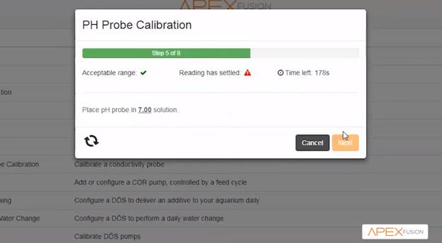 Neptune Systems APEX Fusion pH probe calibration