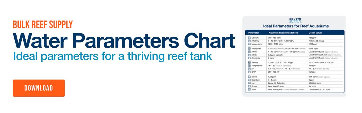Download Bulk Reef Supply Saltwater Aquarium Water Parameters Chart